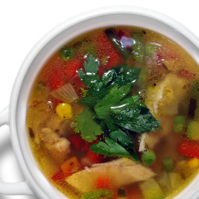 Суп куриный с овощами